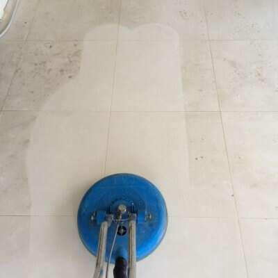 Porcelain tile cleaning